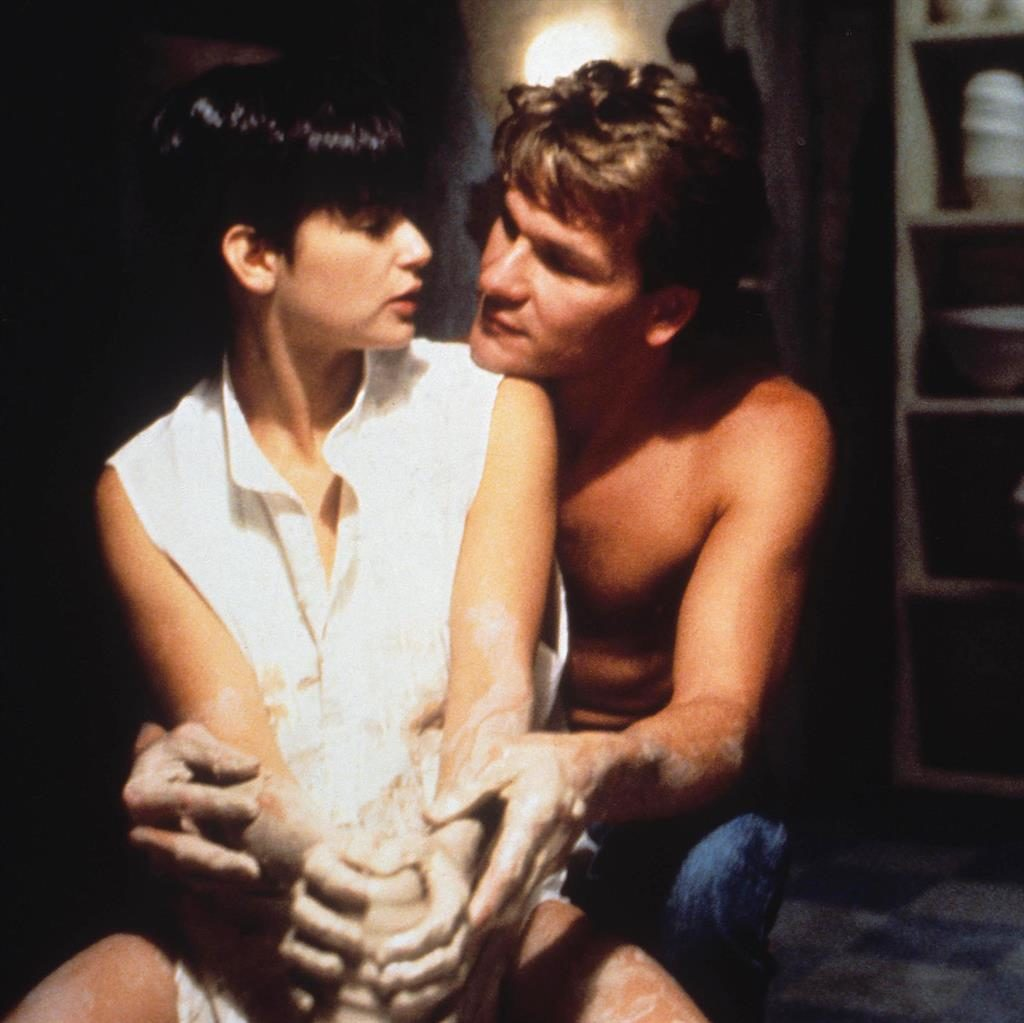 Model potters: Moore and Swayze PICTURE: REX