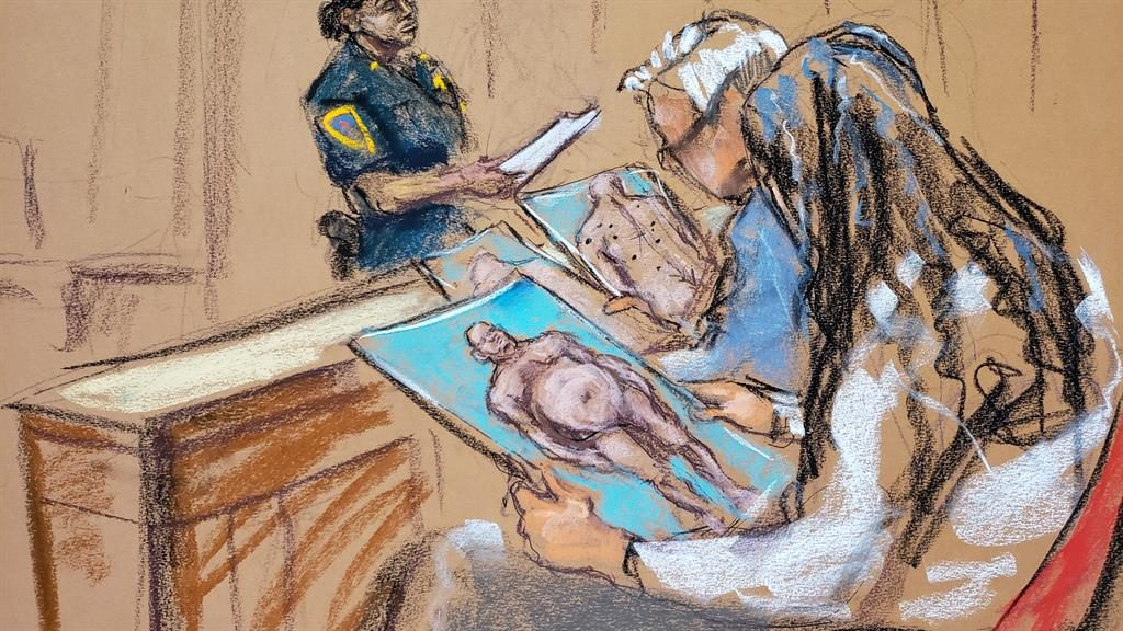 Evidence: Photos were passed to jurors PICTURE: REUTERS