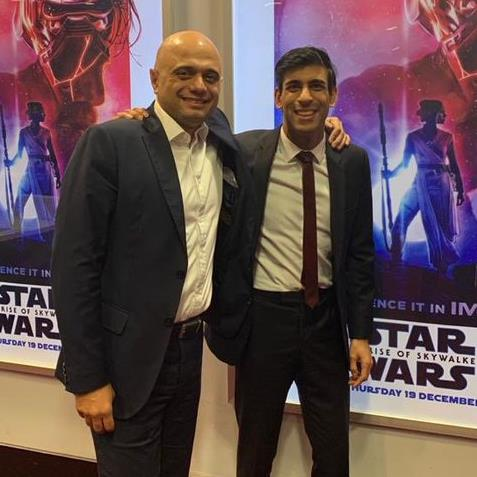 Promotion in sight? Chief secretary to the treasury Rishi Sunak with his boss, chancellor Sajid Javid PICTURE: TWITTER