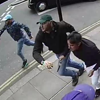 Daylight robbery: Police are hunting three men seen fleeing with Mr.Khan's rare watch after the violent attack PICTURE: METROPOLITAN POLICE