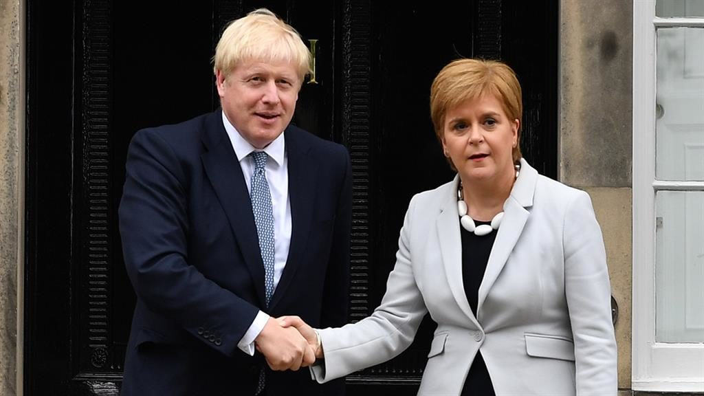 'Rant': Boris Johnson allegedly said Nicola Sturgeon would be given a role at summit over his 'dead body' PICTURE: GETTY