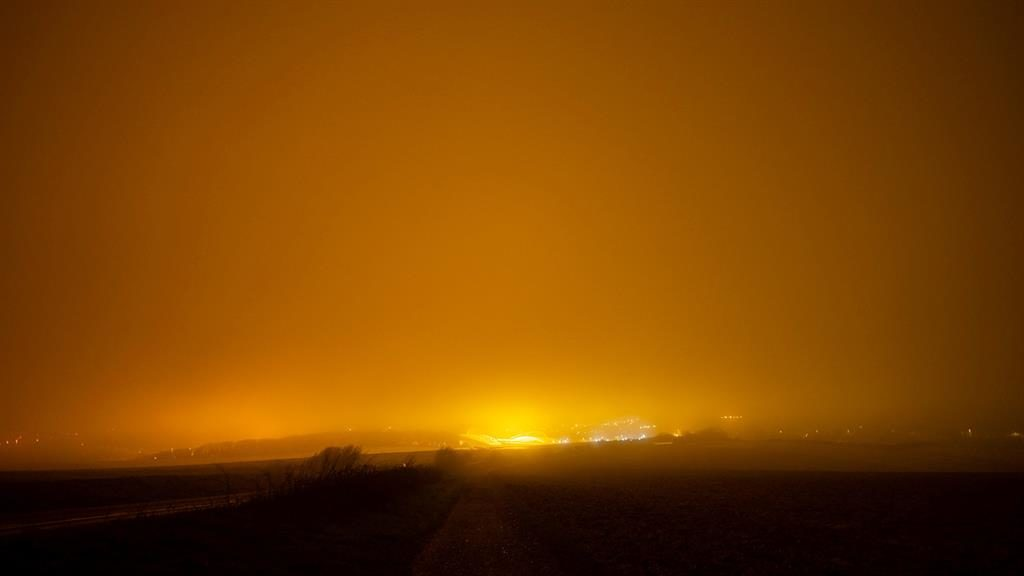 All systems glow: 11,000 have signed a petition urging Brighton and Hove Albion to turn off lights at Amex stadium (below) PICTURES: SWNS