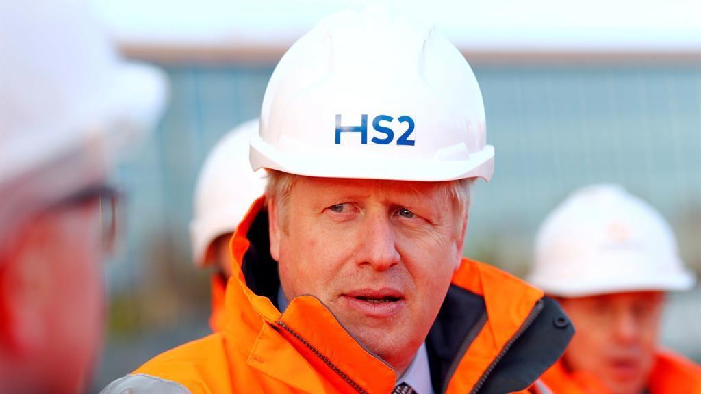 Grand designs: Boris Johnson visits construction site of the Birmingham HS2 terminus PICTURE: PA