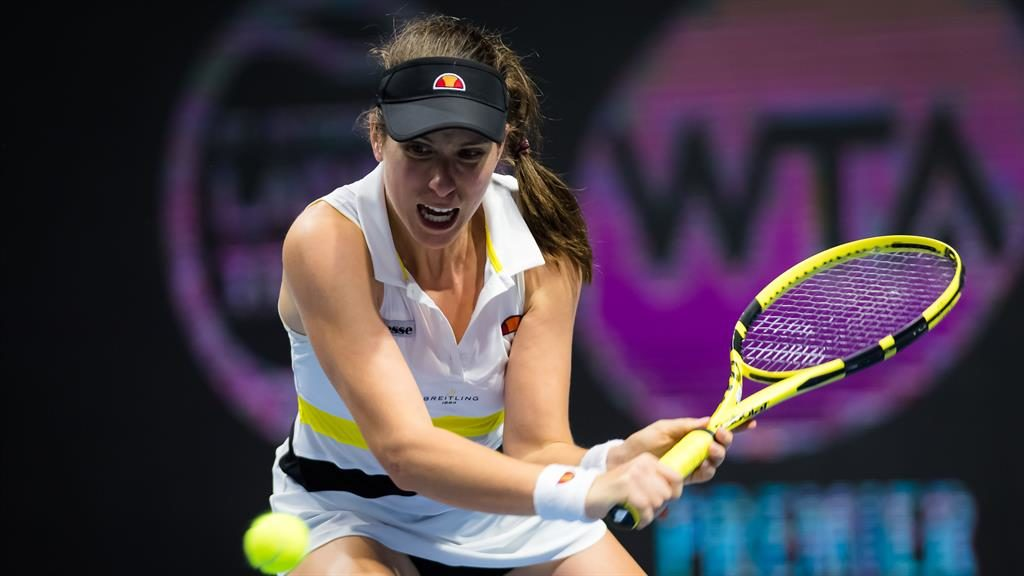 Bencic starts with battling win as Konta goes out in St Petersburg