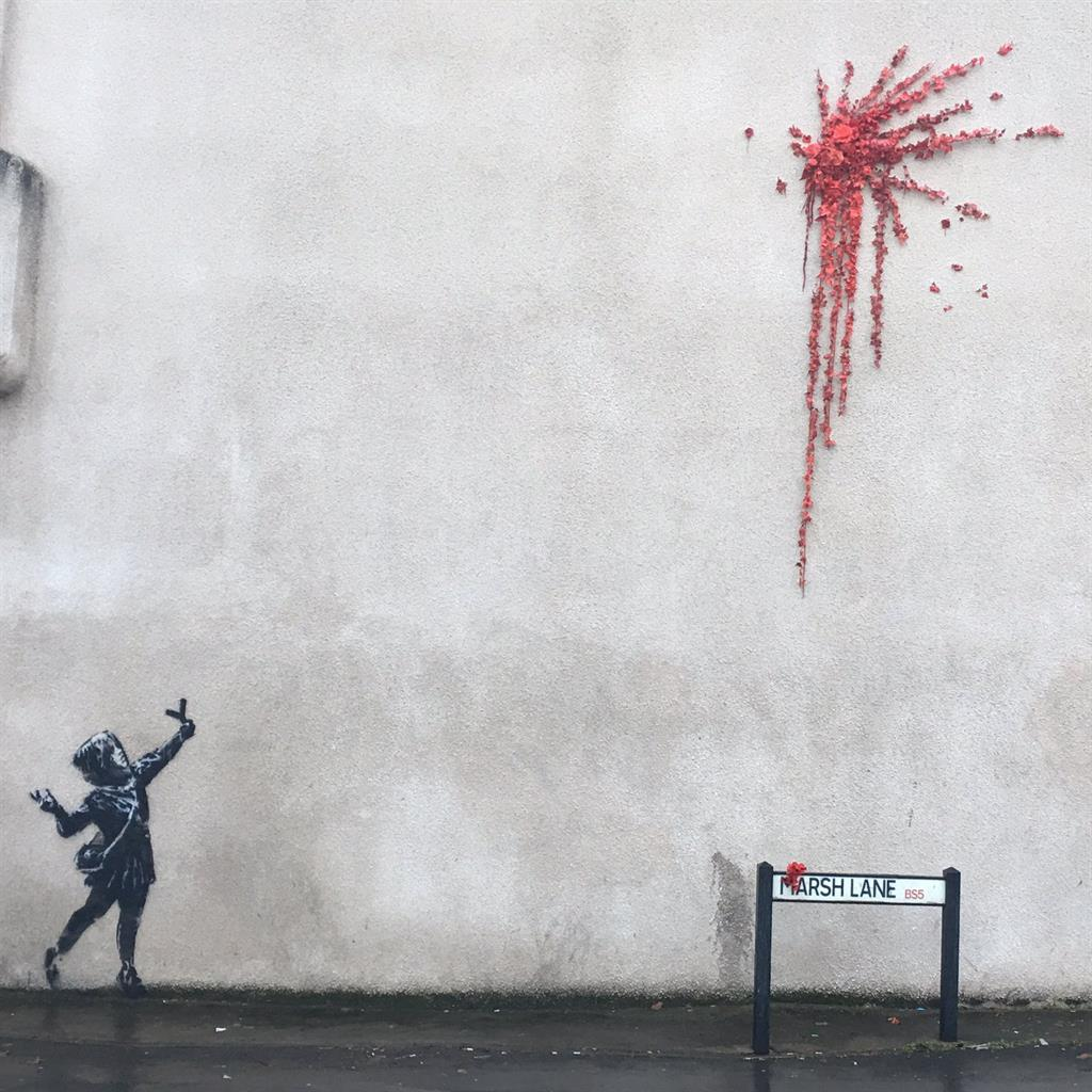 Banksy confirms new Bristol Valentine's Day graffiti is his