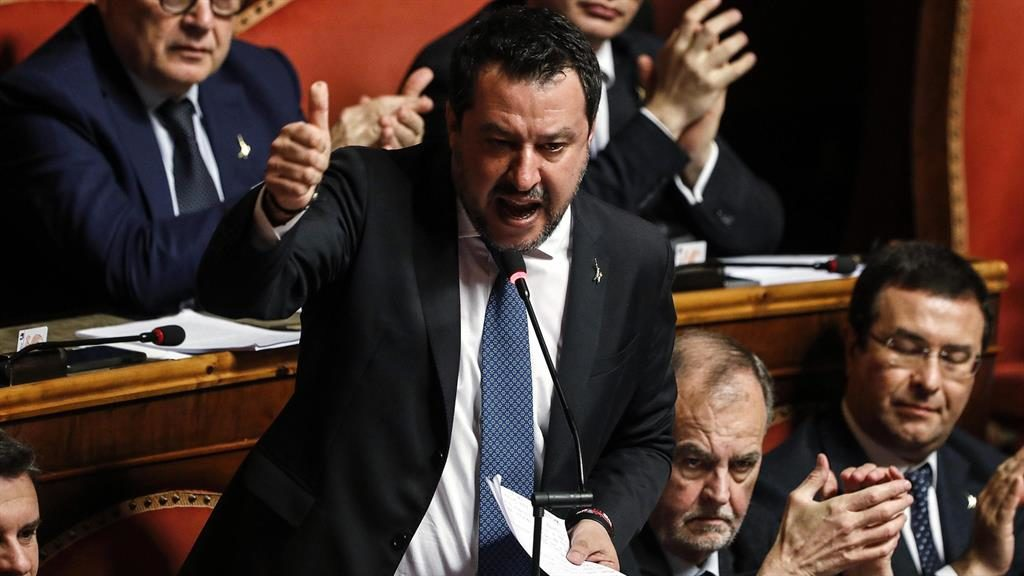 Italy's Senate votes to send ex-interior minister Salvini to trial over alleged 'migrant kidnapping'
