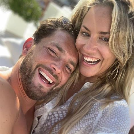 Grief-stricken: The picture of the couple Lewis Burton posted online