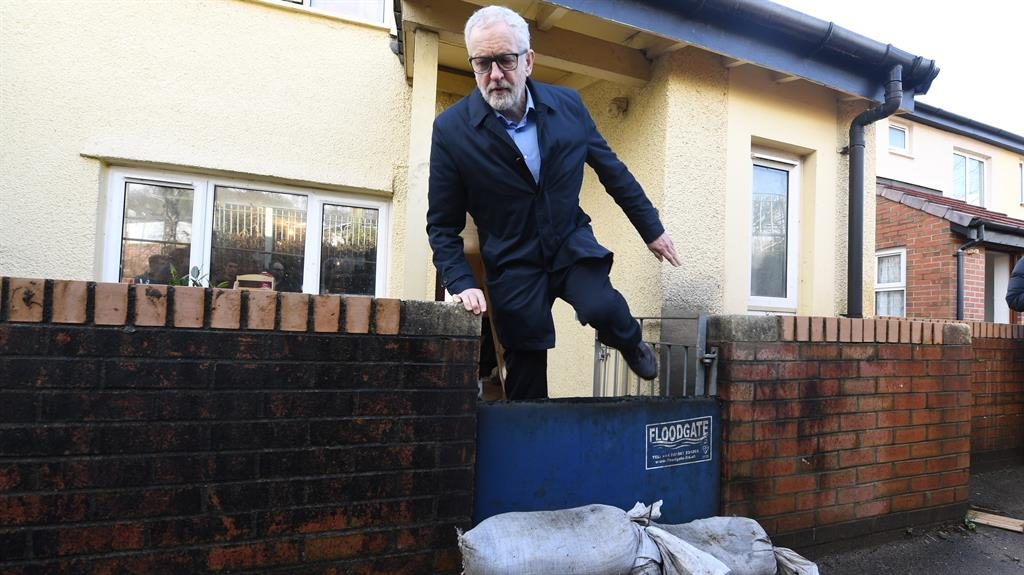 Step in the right direction: Jeremy Corbyn visits Pontypridd, south Wales PICTURE: GETTY