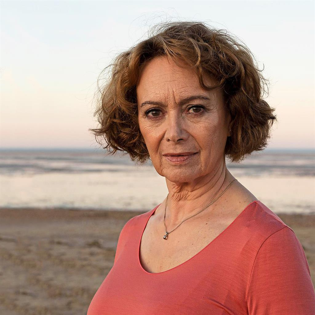 Late romance: Annis plays a widow who finds love again in Flesh And Blood but does she have a secret to hide?