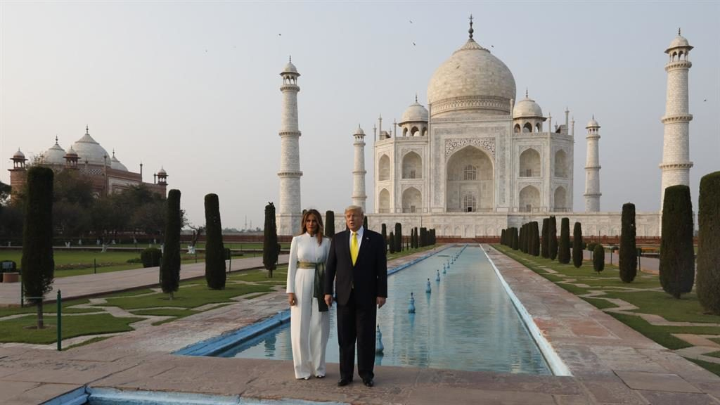 US President Donald Trump and First Lady visit Taj Mahal in Agra