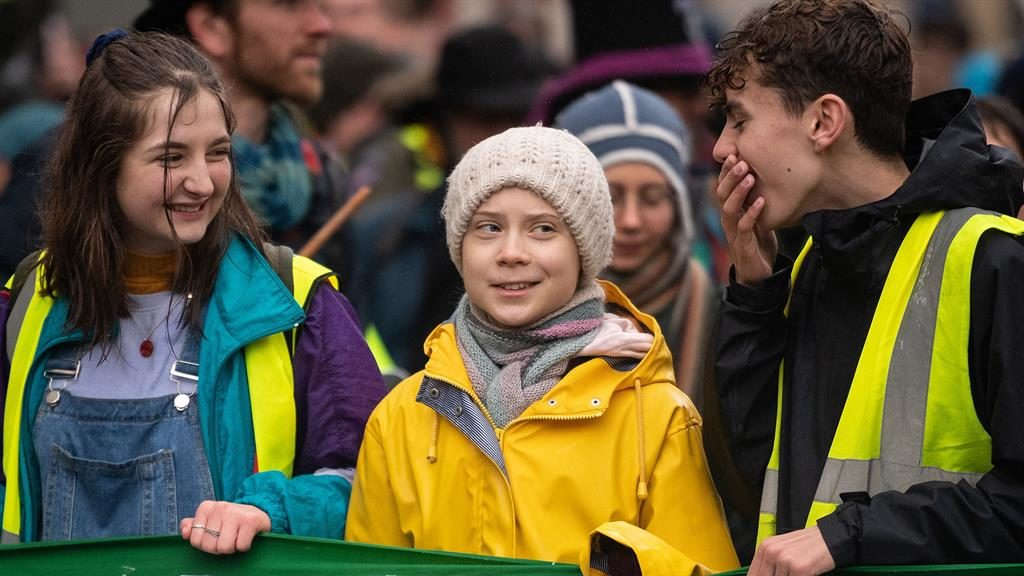 Greta Thunberg leads climate march through Bristol