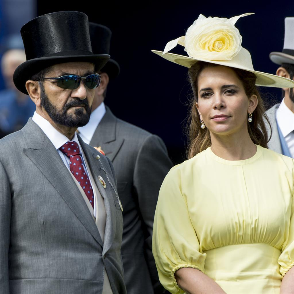 Court battle: Sheikh Mohammed and Princess Haya at the Epsom Derby in 2017 PICTURE: GETTY