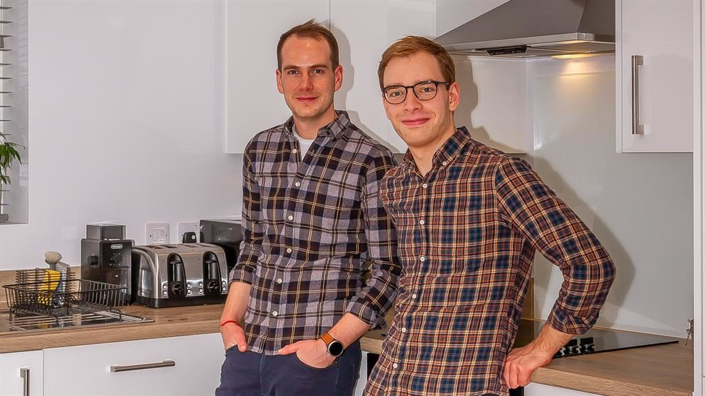 Dream commute: Jonny and Greg's Bicester home is ideally situated for work