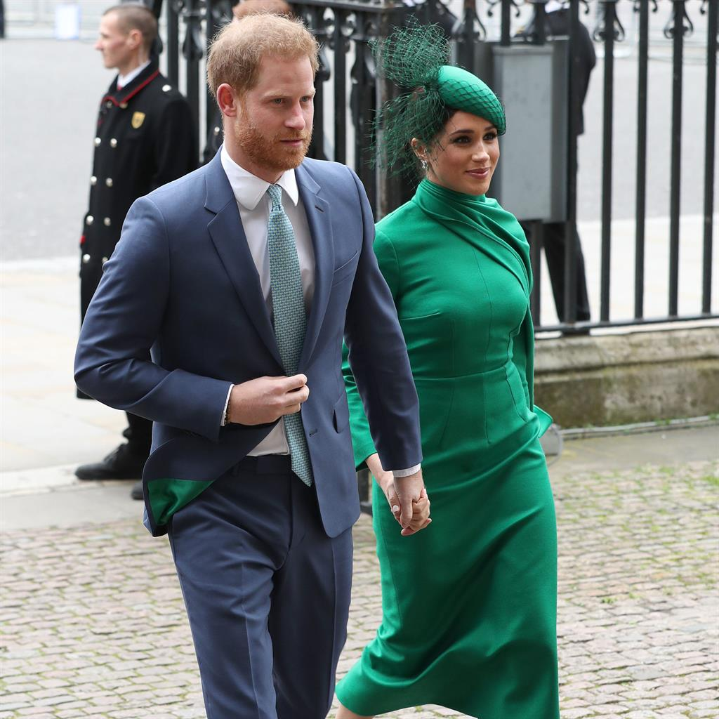 None too sh-Abbey: Meghan and Harry make an entrance PICTURES: PA/GETTY
