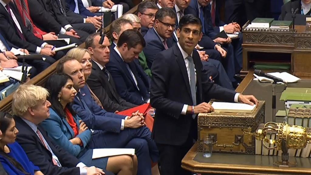 Austerity over: Chancellor Rishi Sunak presents his first Budget in the Commons PICTURE: GETTY