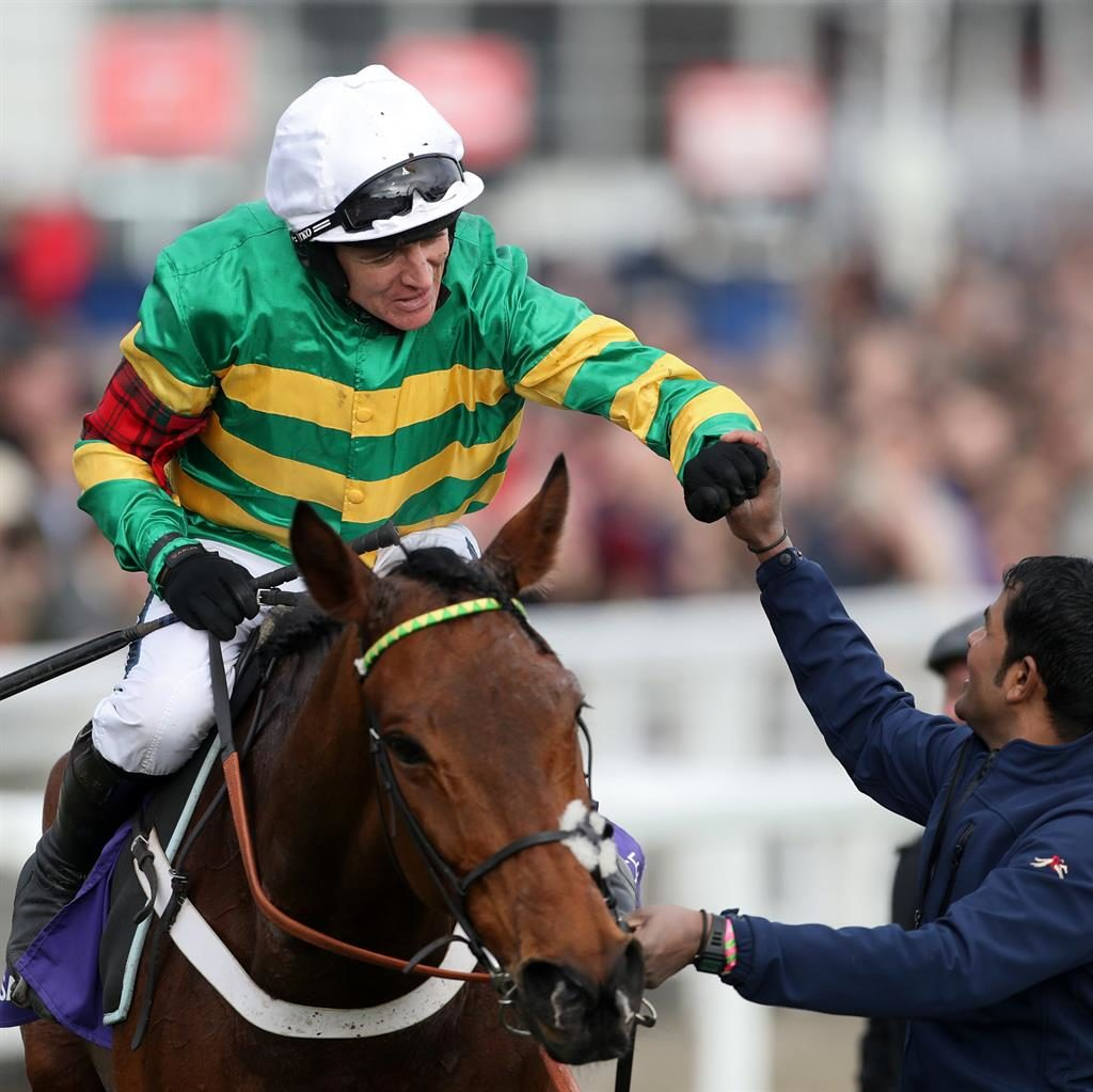 Happy as Barry: Geraghty is congratulated after his brilliant ride PICTURE: PA/REUTERS