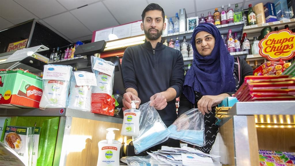 Not cleaning up: Asiyah Javed and husband Jawad will lose £2,000 by giving away anti-bacterial protection PICTURES: SWNS