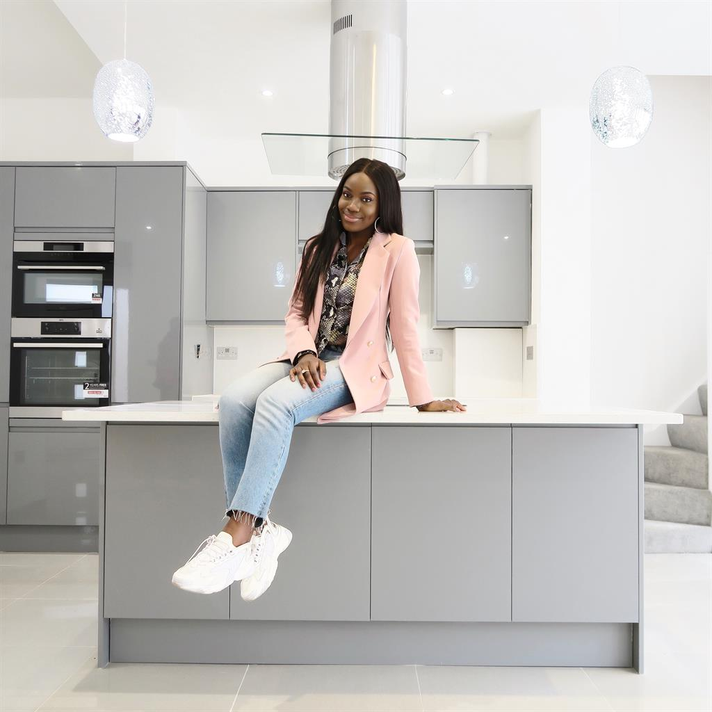 Determined: Jade Vanriel transformed an unloved local authority flat in Harlow