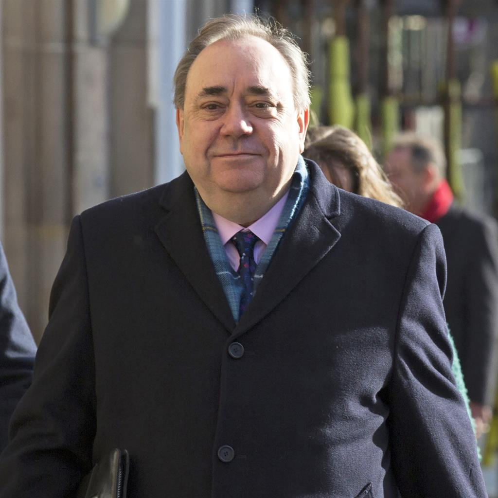 On trial: Alex Salmond denies 13 offences against nine women while he was Scotland's first minister PICTURE: DAVID CHESKIN