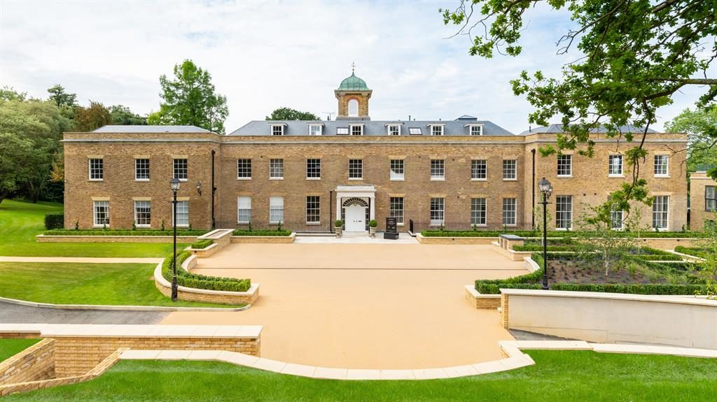 Place to be: You get high ceilings and private outside space at Grade II-listed Harefield Place