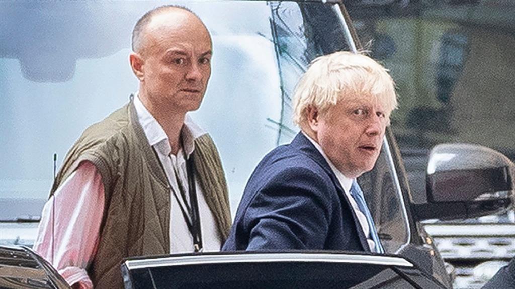 'Slippery': Dominic Cummings with Boris Johnson PICTURE: REX