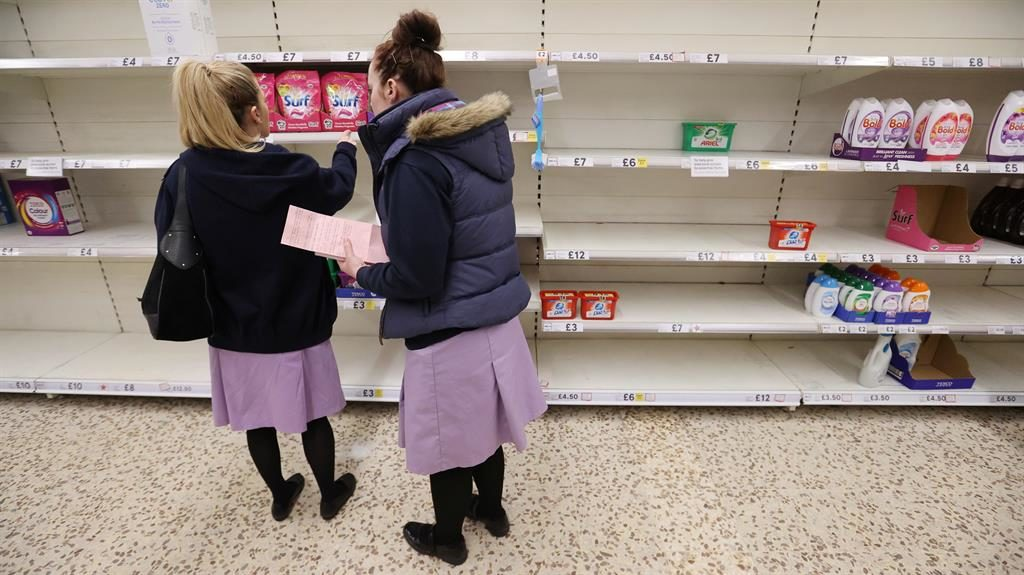 Genuine: Real NHS workers at a different Tesco store PICTURE: REUTERS