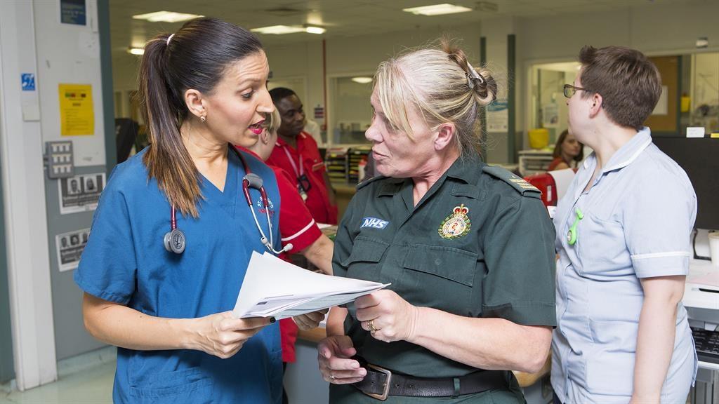 'Real concern': Dr Allin-Khan with an A&E colleague PICTURE: STEVE BAINBRIDGE