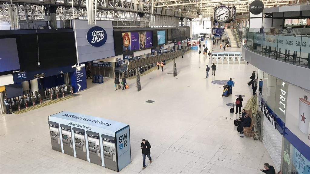 'Unprecedented': London's Waterloo station is deserted amid crisis PICTURES: PA