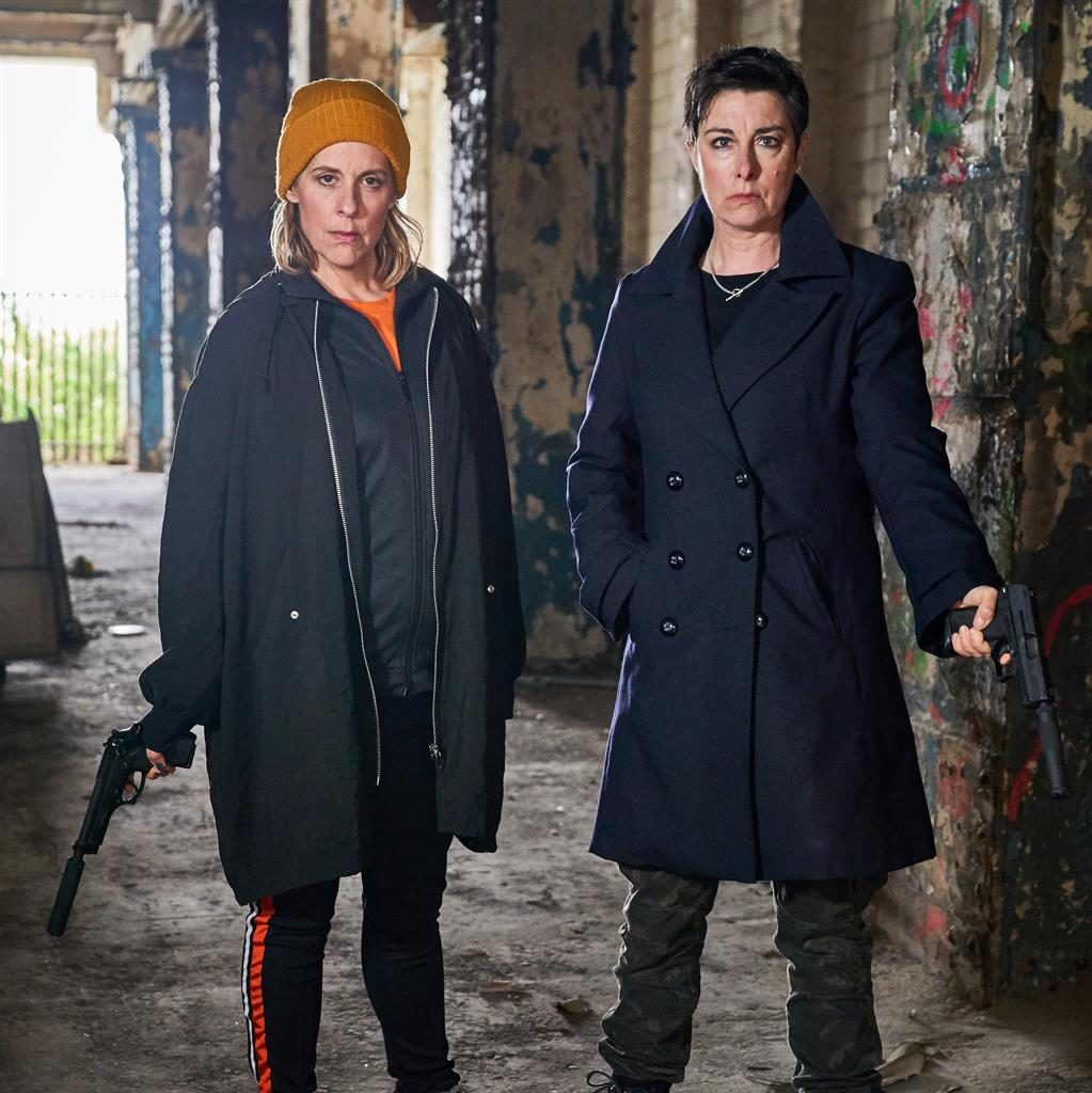 Debacle: Sue Perkins and Mel Giedroyc star as assassins in a cringeworthy comedy saved only by its cameo cast