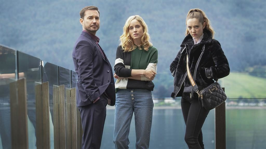 Gripping: Martin Compston, Sophie Rundle and Mirren Mack is The Nest PICTURE: BBC