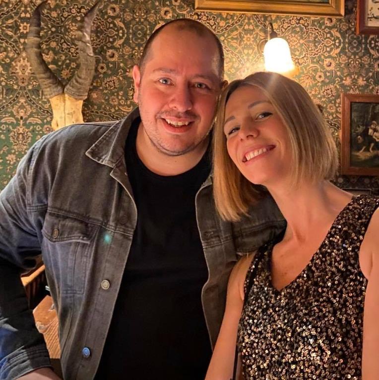 'Terrifying': Matt with his wife Mel