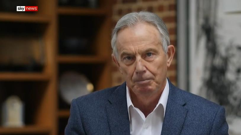 Warning: Former prime minister Tony Blair says virus must be tracked PICTURE: SKY NEWS
