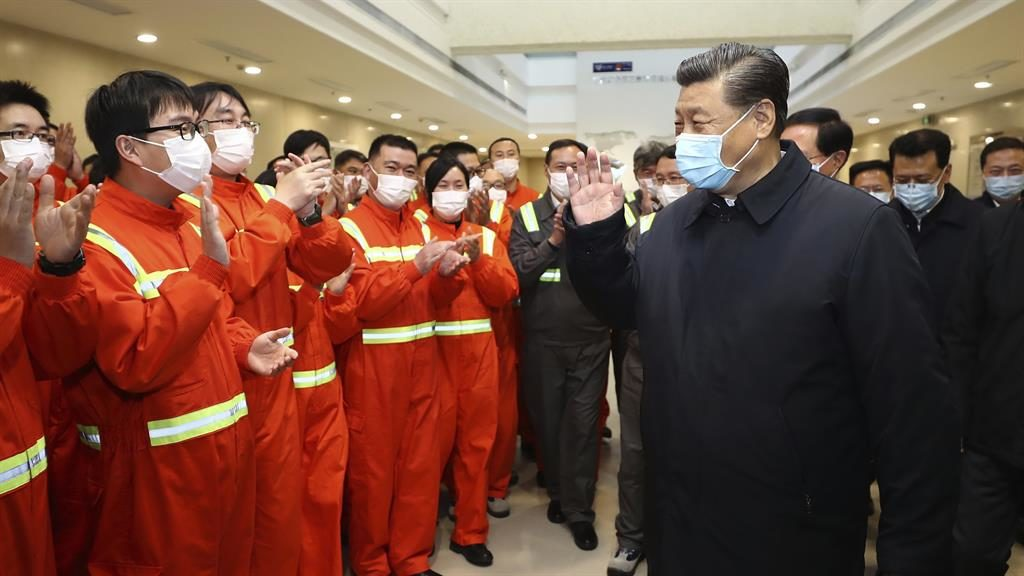 Back in business: Chinese president Xi Jinping visits Ningbo-Zhoushan port PICTURE: AP