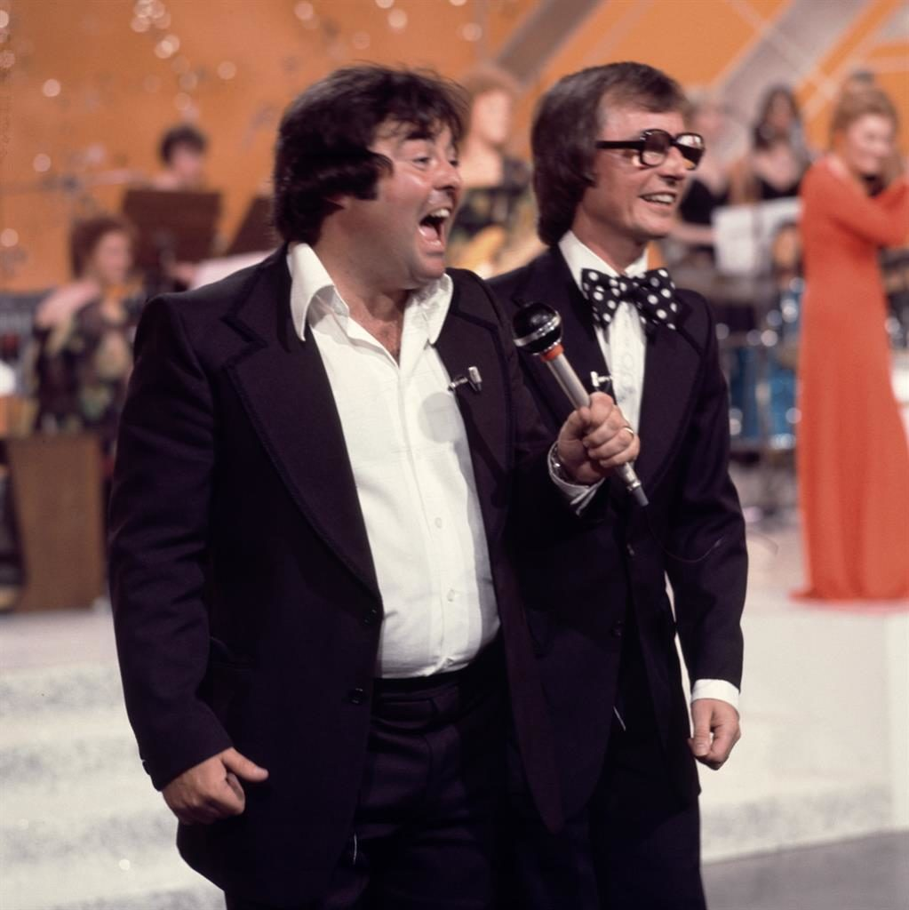 Watched by millions: Eddie Large (left) with his partner Syd Little in 1976 PICTURE: REX