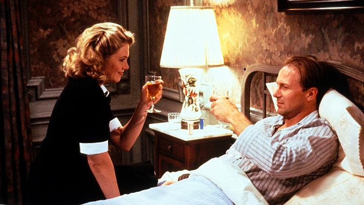 Screen success: Turner and Hurt in The Accidental Tourist. Below, Anne Tyler