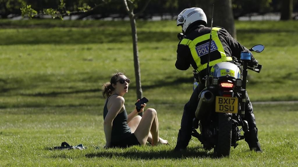 Challenged: A woman on Primrose Hill, north London PICTURE: AP