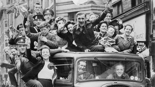 Jubilation: Londoners rolled out the barrel to celebrate victory in Europe PICTURE: IMPERIAL WAR MUSEUM
