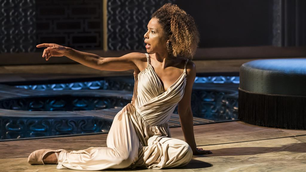 'Seductively mercurial': Sophie Okonedo as Cleopatra PICTURES: JOHAN PERSSON