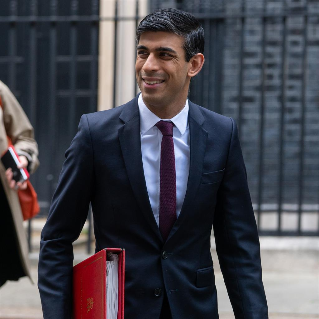 Cheerleader: Rishi Sunak says scheme will help small businesses 'get through these  challenging times' PICTURE: PA