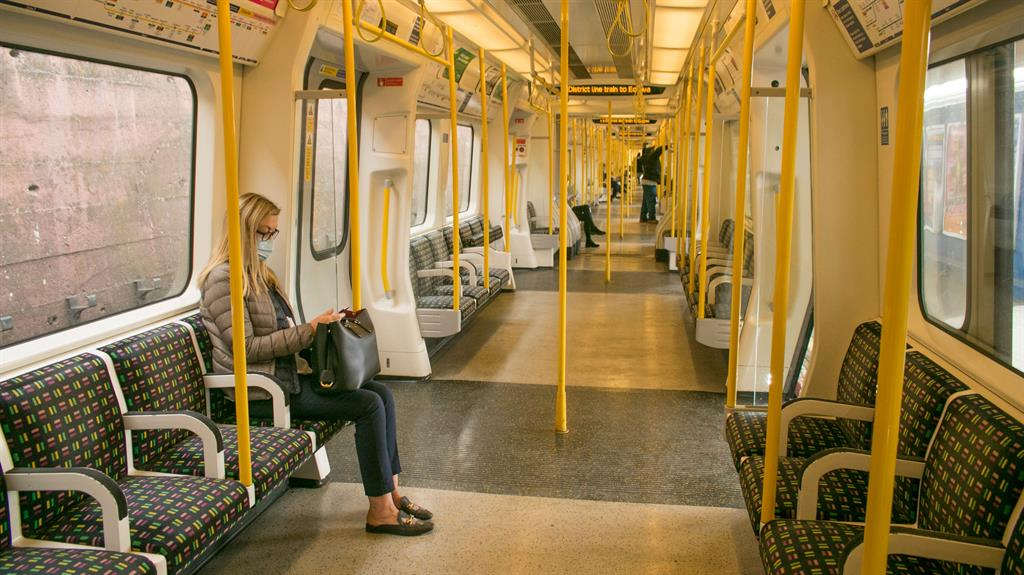 So far, so good: A commuter finds plenty of room on the District line yesterday morning PICTURE: REX