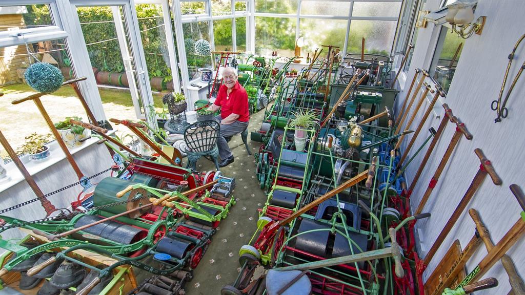 Dream machines: Stan Hardwick has collected 500 mowers