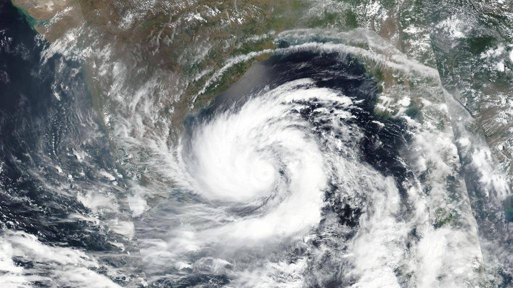 Eye on the storm: A satellite photo of super cyclone Amphan over the Bay of Bengal PICTURE: NASA/AP