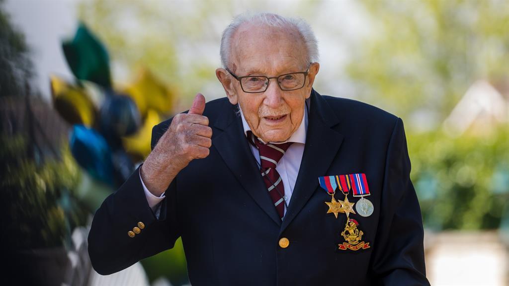 Knight in waiting: British veteran Captain Tom Moore