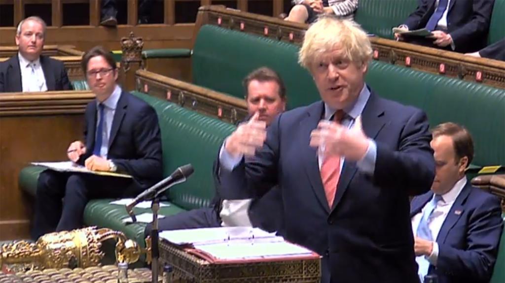 Progress': Boris Johnson at PMQs yesterday