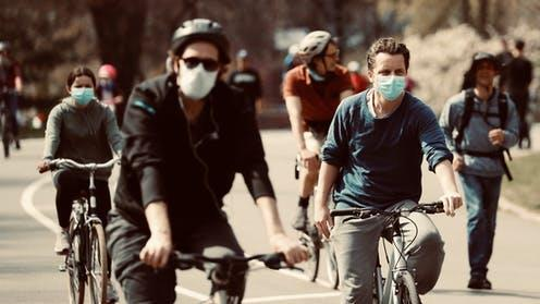 Putting the brakes on climate change: The pandemic has seen a leap in cycle use PICTURE: LUCAS JACKSON/REUTERS
