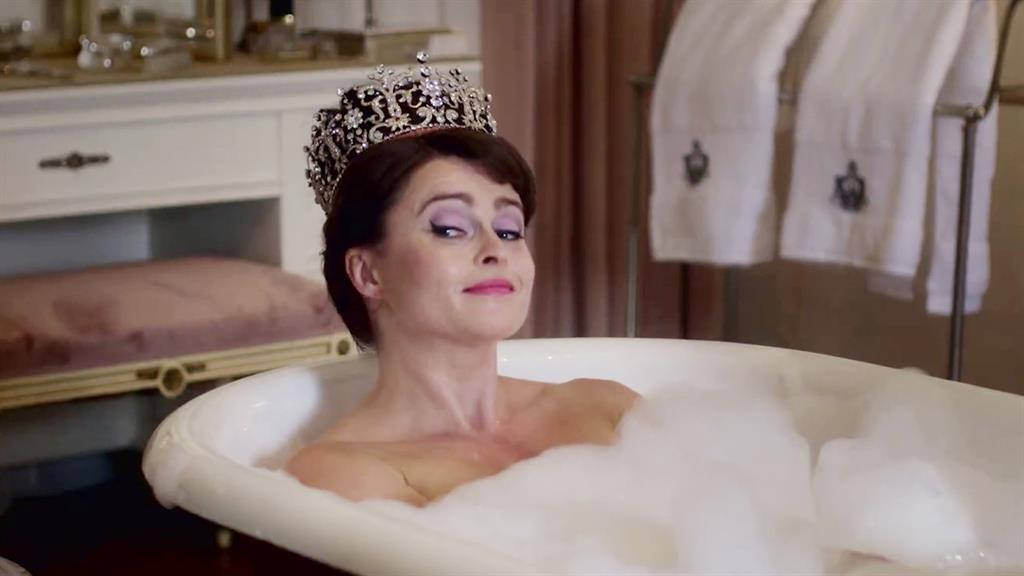 Jewels in The Crown: Helena takes a bath in her role as Margaret PICTURES: BBC/REX/AP/CHANNEL 4