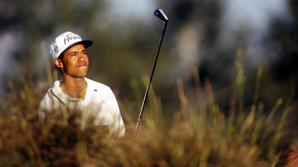Prodigious talent: A teenage Woods PICTURE: GETTY