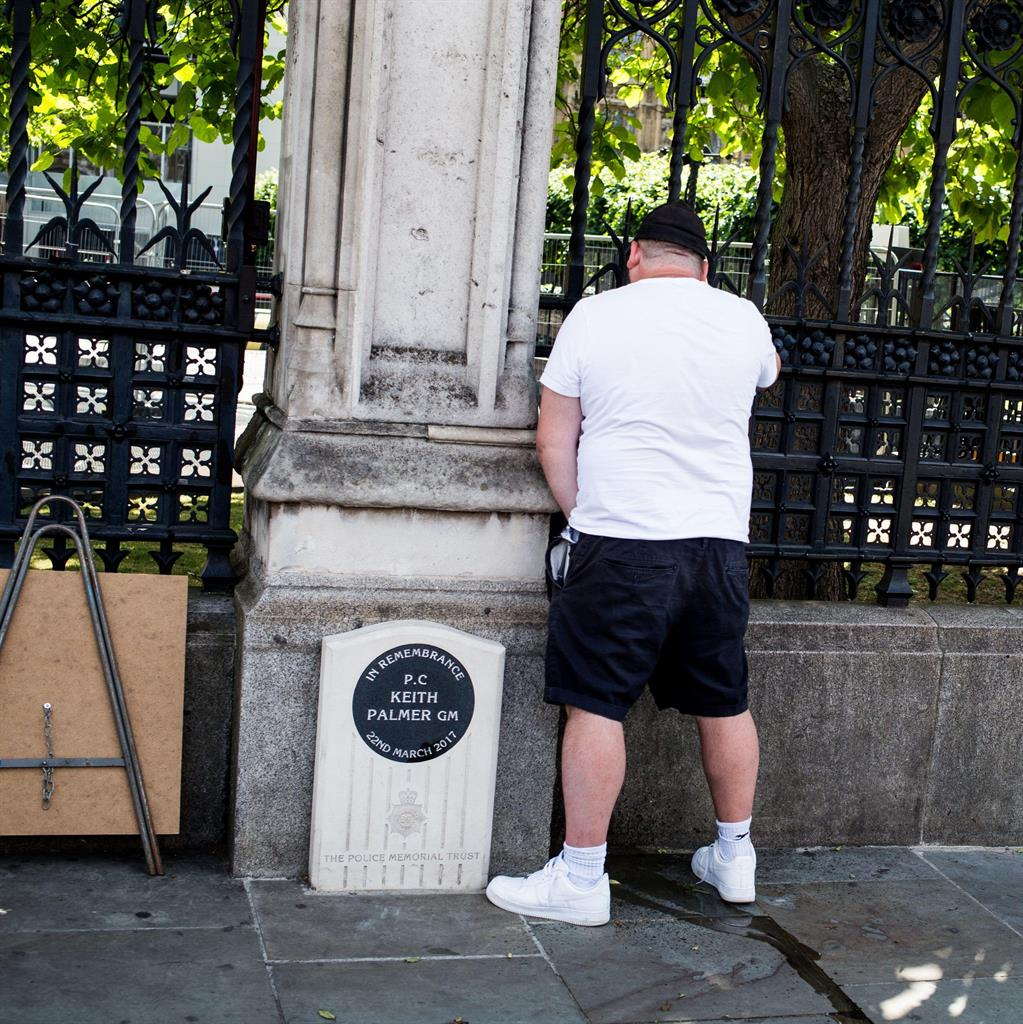 Man jailed for urinating at PC Keith Palmer memorial during protest