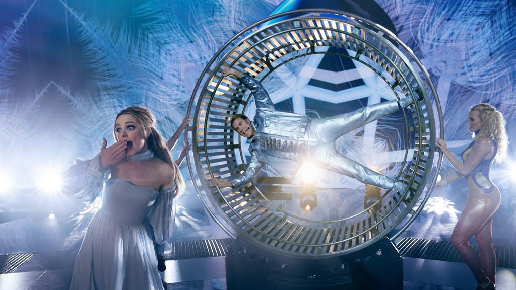 Wheel meet again: Brilliant Rachel McAdams as Sigrit. and Will Ferrell (Lars) giving it their all on stage PICTURES: NETFLIX