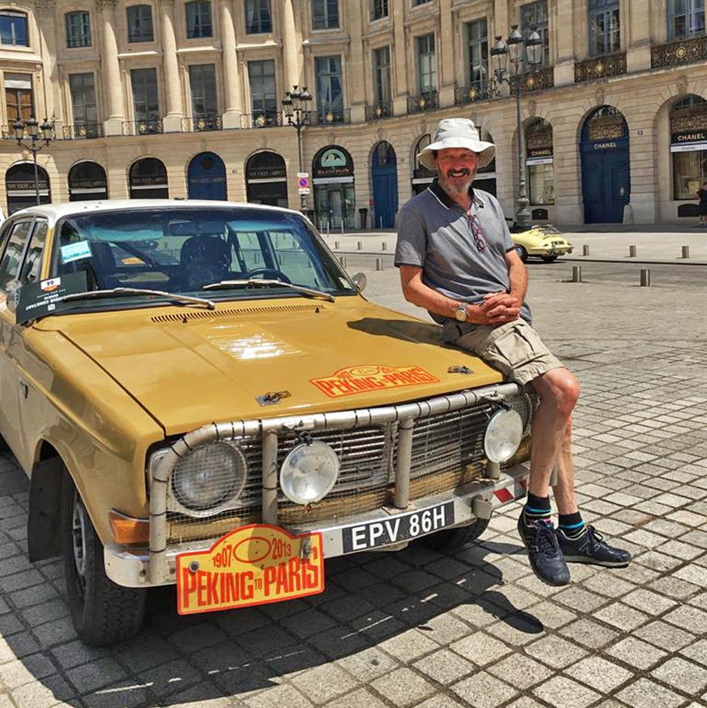On tour: Charles Cook with his car PICTURE: HISTORICS/SWNS